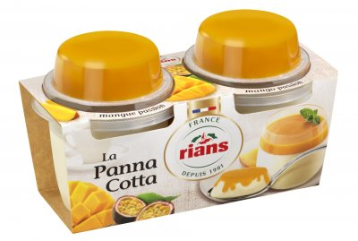 Десерт Rians Панна котта с манго и маракуйя 2х120 г