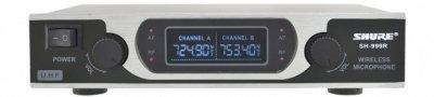 Радіосистема Shure SH-999R, база, 2 мікрофона + Кейс, сріблястий (MD-14166)