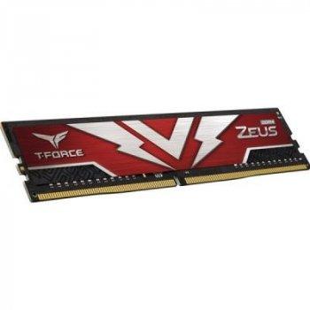 Модуль пам'яті для комп'ютера DDR4 16GB (2x8GB) 3000 MHz T-Force Zeus Red Team (TTZD416G3000HC16CDC01)