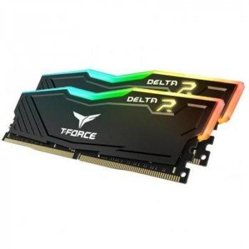 Модуль пам'яті для комп'ютера DDR4 16GB (2x8GB) 3200 MHz T-Force Delta Black ARGB Team (TF3D416G3200HC16CDC01)