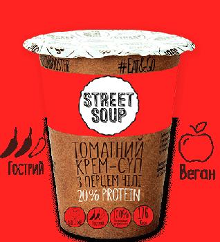Упаковка крем-супу Street Soup Томатного 50 г х 6 шт. (8768137287344)