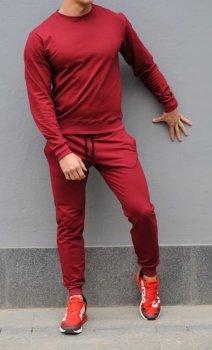 Мужской спортивный костюм свитшот и штаны KML MG1025 Бордовый