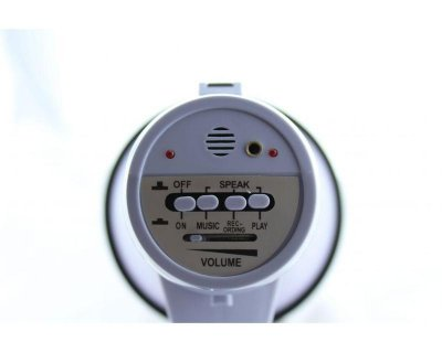 Гучномовець Yaochen MEGAPHONE HW 20B/3688 вуличний з рацією мікрофоном 20Вт Сірий (12058)