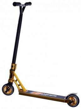 Трюковий Самокат Maraton PowerSlide трюкової колеса метал золотий металік для фрістайлу + захист