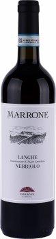 Вино Langhe Nebbiolo DOC Marrone красное сухое 0.75 л 14% (8029510100521)