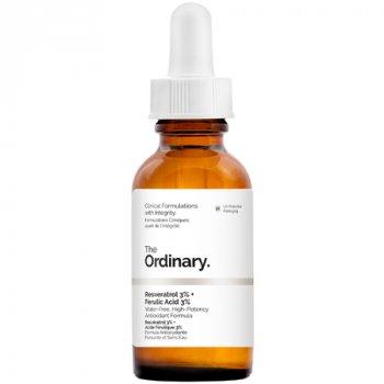 Антиоксидантная сыворотка для упругости кожи The Ordinary Resveratrol 3% + Ferulic Acid 3% 30ml