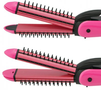 Плойка для волос утюжок выпрямитель и гофре 3 в 1 Domotec MS-4906 расческа для завивки в локоны и кудри создание объема волн и выравнивание (47360)