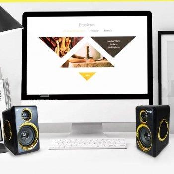 Колонки для ПК Kisonli T-005, динамики для компьютера, домашняя аудиосистема, акустика, черный