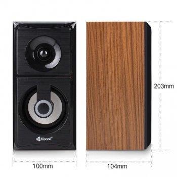 Колонки для ПК Kisonli AC-9001, компьютерные колонки, домашняя аудиосистема, акустика, черный
