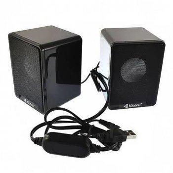 Колонки для ПК Kisonli K100, динамик для компьютера, домашняя аудиосистема, акустика,черный