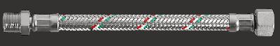 """Шланг гнучкий Parigi Parinox (Гайка-штуцер) 1/2""""x1/2""""x30 див. нержавіюча обплетення (60211)"""