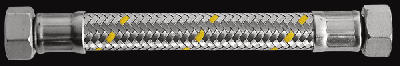 "Шланг газовий Parigi Sicurgas (1,0 м.) 1/2""x1/2"" (ВВ) в нержавіючої обплетенні (60273)"