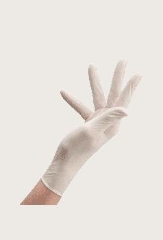Перчатки Латексные Опудренные CARE365 Белые L (100 шт)