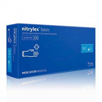 Перчатки Нитриловые Неопудренные MERCATOR MEDICAL Синие М (200 шт)