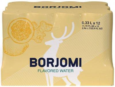 Упаковка минеральной воды Borjomi Флейворд Вотер Цитрус-Имбирь 0.33 л х 12 шт (4860019002350)