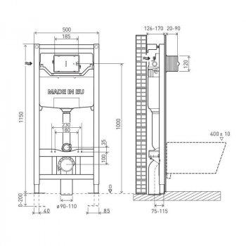 VOLLE MASTER NEO инсталляциядляунитазапневматическая 3в1 (инсталляция, крепления, прокладка)