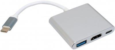 Переходник Адаптер Patron USB Type-C - HDMI/USB 3.0/TYPE-C 0.1 м PN-TYPE-C-HUB (ADAPT-PN-TYPE-C-HUB)