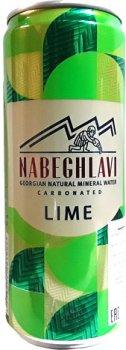 Упаковка минеральной газированной воды Набеглави Лимон-лайм 0.33 л х 24 банки (4865602001086)