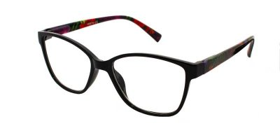 Очки для чтения женские пластиковая оправа Vesta 19301С1 (+3.00) черные