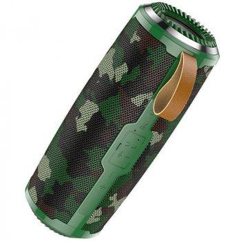 Bluetooth Колонка Hoco BS38 Cool freedom sports Camouflage Green