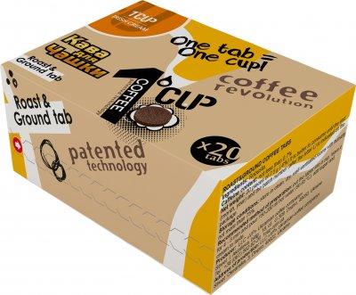 Кофе молотый прессованный для заваривания в чашке UCC 1 CUP Айриш крем 20 шт (4820230023435)