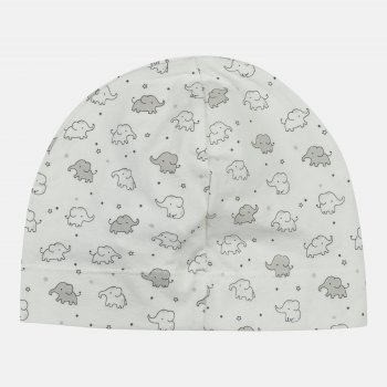 Демисезонная шапка H&M 1203-8257442 49 см Белая (hm05001979802)