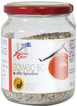Приправа гомасио La Finestra Sul Cielo со спирулиной органическая 150 г (8017977015236)