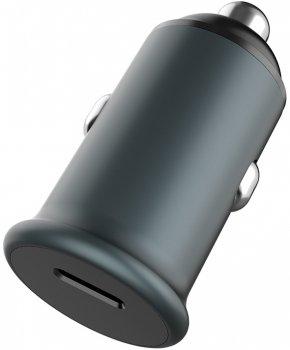 Автомобильное зарядное устройство ColorWay 1USB Power Delivery Port USB Type-C (20W) Grey (CW-CHA028PD-GR)
