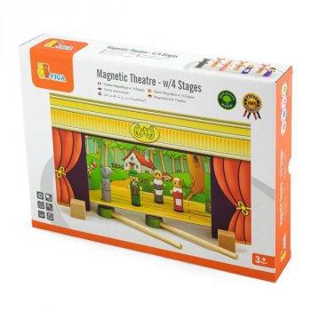 """Дитячий магнітний ігровий набір Viga Toys """"Театр"""", 15 дерев'яних персонажів"""