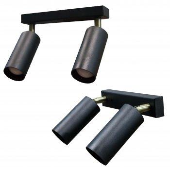 Світильник настінно-стельовий 100lamp Loft Е-27, планка, метал, похилий механізм (NL 1105-2)