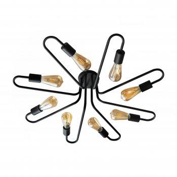 Світильник стельовий 100lamp Loft Е-27 метал, чорний (NL 8585/8)