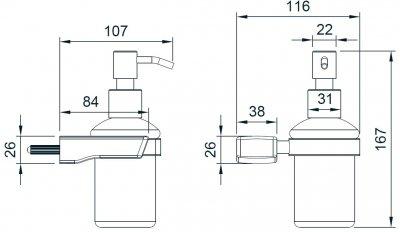 Дозатор для рідкого мила IMPRESE Grafiky ZMK041807310 300 мл