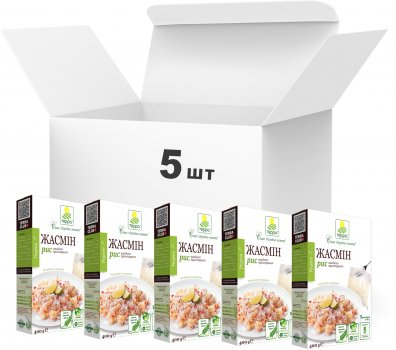 Упаковка риса Терра Жасмин быстрого приготовления в варочном пакете 400 г х 5 шт (4820015737205)