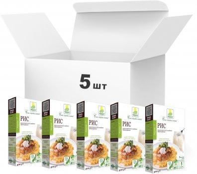 Упаковка риса круглозернистого Терра высшего сорта быстрого приготовления в варочном пакете 400 г х 5 шт (4820015737229)