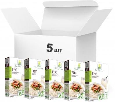 Упаковка пропаренного риса Терра быстрого приготовления в варочном пакете 400 г х 5 шт (4820015737236)