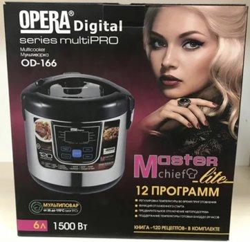 Мультиварка Opera OD-166 1500 Вт 6л 12 программ из нержавеющей стали с керамическим покрытием чаши (111d017)