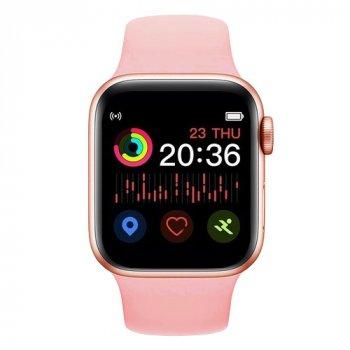 Смарт Годинник Smart Watch T500 Голосовий виклик Фітнес-браслет Pink