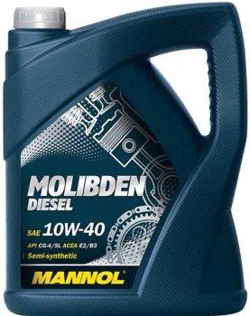 Моторное масло Mannol Molibden Diesel 10W-40 5 л (160/2)