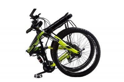 """Электровелосипед Kerambit 26"""" рама 17"""" 36V 12Ah 500W складной с багажником черно-желтый (EKCHY)"""