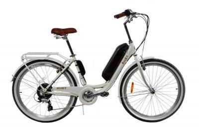 Электровелосипед женский Dorozhnik RUBY 36V 14AH 500W белый (RUBYZPW)