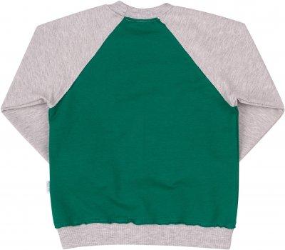 Свитшот Бемби ДЖ210 Зеленый с серым (до 98 см)