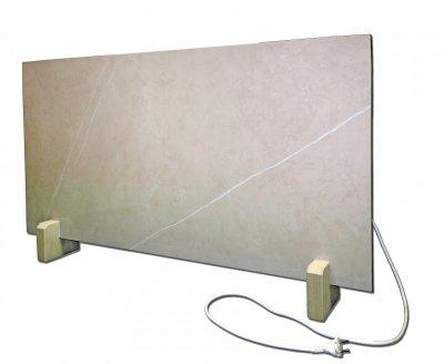 Керамічний обігрівач карбоновий КІО Marble 60x120 см 500 Вт обігрів до 15 м2 Бежевий (KIO60120Light1)