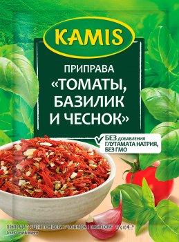 Упаковка приправы Kamis Сушеные помидоры с чесноком и базиликом 15 г х 4 шт (5900084267168)