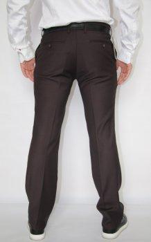 Мужской классические брюки VEK 8384 коричневый цвет