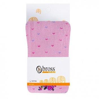 Колготы детские BROSS Цветочки 98-104 см 3-5 лет Розовые