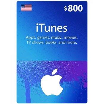 Подарочная карта iTunes Apple / App Store Gift Card 800 usd US-регион