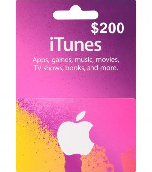 Подарункова карта iTunes Apple / App Store Gift Card 200 usd US-регіон