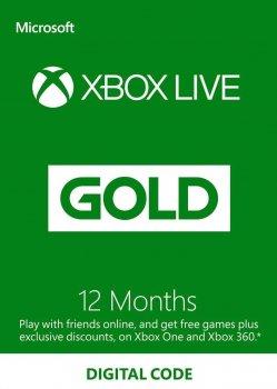Xbox Live Gold - 12 місяців Xbox360 / One / Series підписка для всіх регіонів і країн