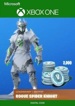 Подарочна карта Fortnite Rogue Spider Knight Bundle + 2000 V-Bucks для Xbox One / Series