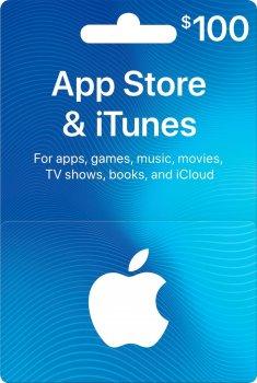 Подарочная карта iTunes Apple / App Store Gift Card 100 usd US-регион
